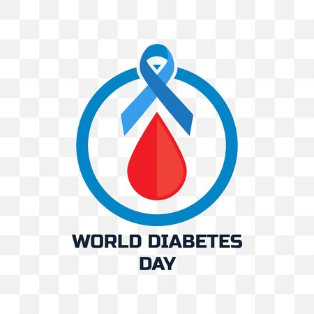 world diabetes day isolated on transparent background. vector illustration