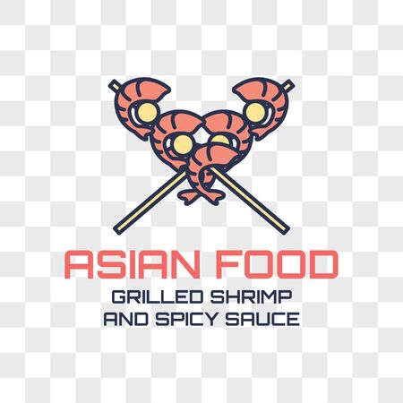 asian food logo isolated on transparent background. vector illustration
