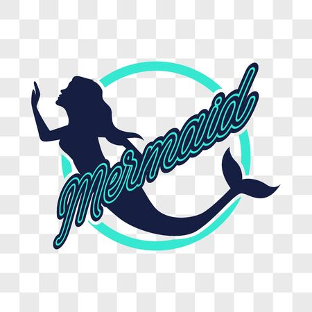 mermaid isolated on transparent background. vector illustration Ilustração
