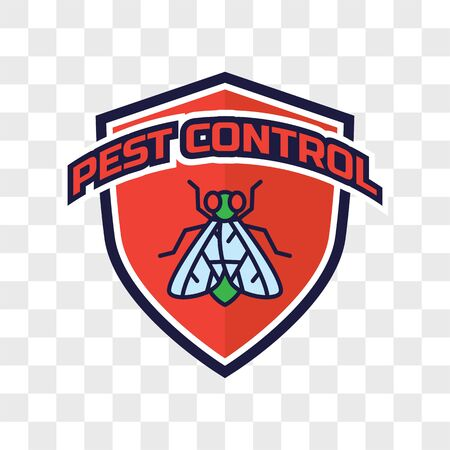 pest control logo isolated on transparent background. vector illustration