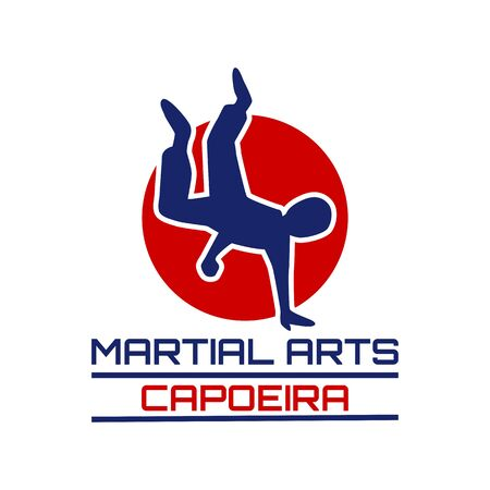 capoeira martial art isolated on white background. vector illustration