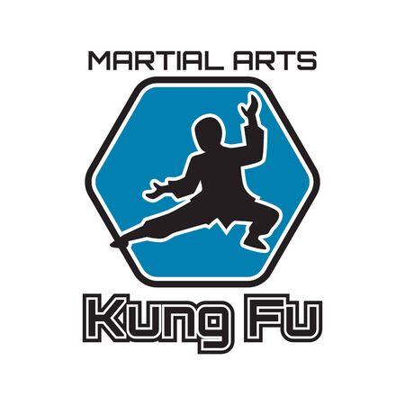 kung fu martial art isolated on white background. vector illustration Ilustração Vetorial