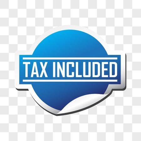 tax included tax free sticker isolated on white background. vector illustration