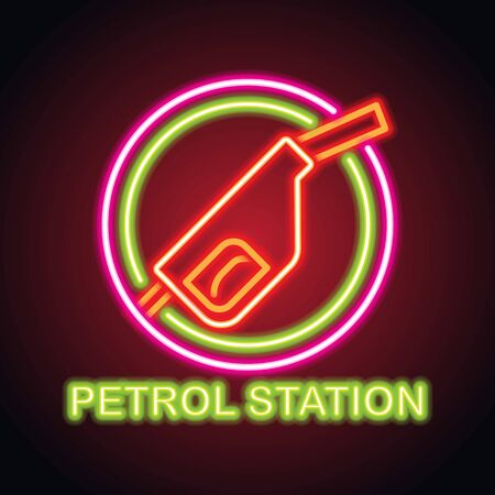 gas petrol station neon sign for gas petrol station plank