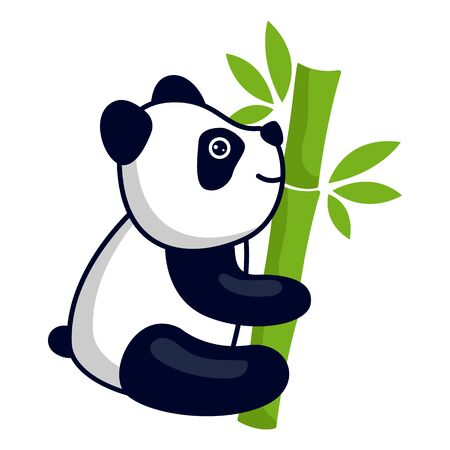 panda bear logo isolated on white background. vector illustration