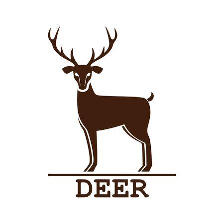 deer logo isolated on white background. vector illustration