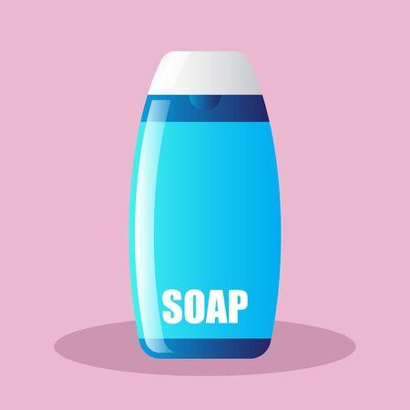 liquid soap bottle. vector illustration Иллюстрация