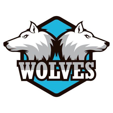 wolf logo isolated on white background. vector illustration