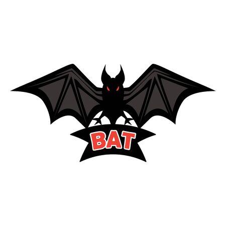 bat logo isolated on white background. vector illustration Standard-Bild - 125208570