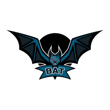bat logo isolated on white background. vector illustration