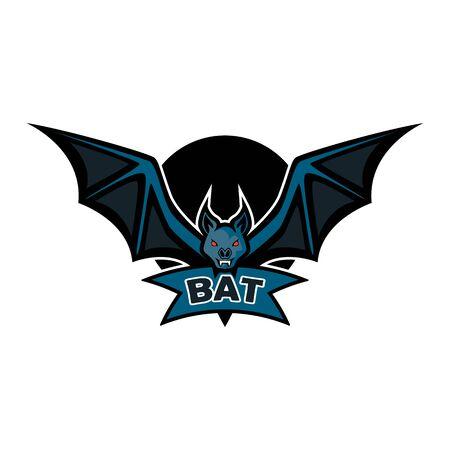 bat logo isolated on white background. vector illustration