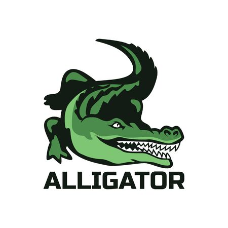 alligator crocodile logo for your business company. vector illustration