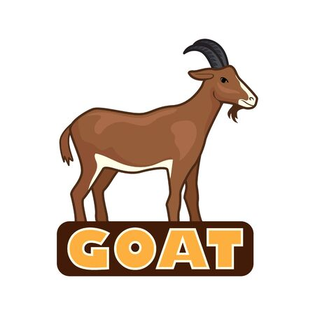 goat logo isolated on white background. vector illustration