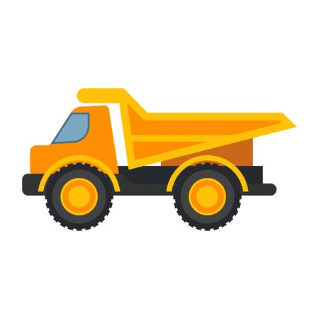 heavy equipment logo isolated on white background. vector illustration Logo