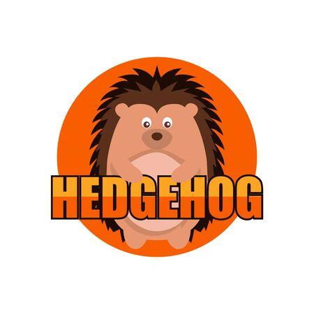 hedgehog logo isolated on white background. vector illustration