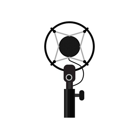 microphone isolated on white background. vector illustration