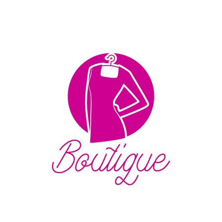 fashion boutique logo with text space for your slogan / tagline, vector illustration