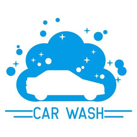 car wash service logo, vector illustration Иллюстрация