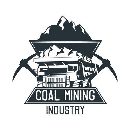 insegne di estrazione del carbone. illustrazione vettoriale Vettoriali