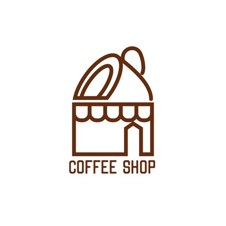 coffee shop logos, label, badge with text space for your slogan / tagline,  vector illustration 向量圖像