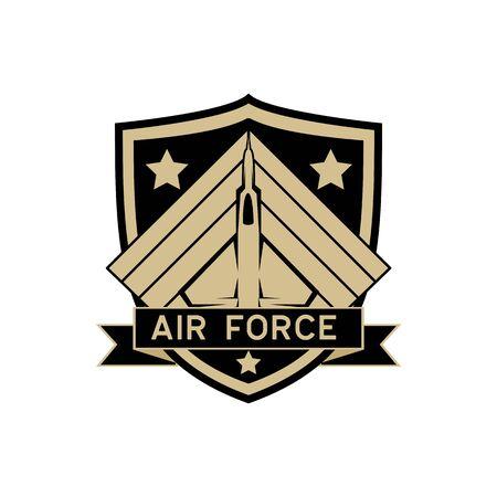 army badge logo isolated on white background, vector illustration Illustration