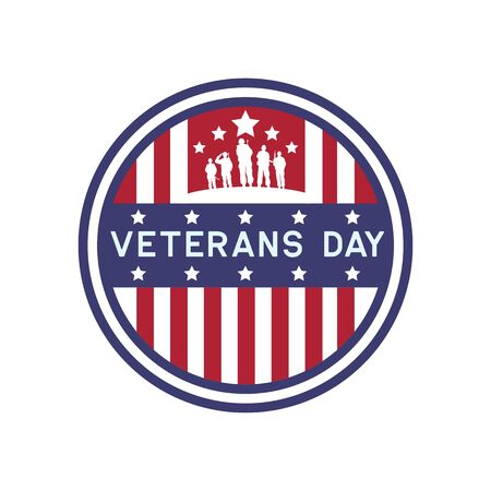 happy veteran's day for american veteran. vector illustration Иллюстрация