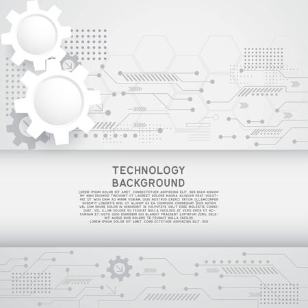high computer technology for technology business or education background. vector illustration