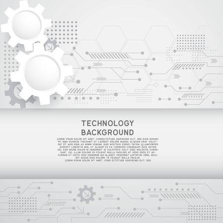 hoge computertechnologie voor technologische zaken of onderwijsachtergrond. vector illustratie