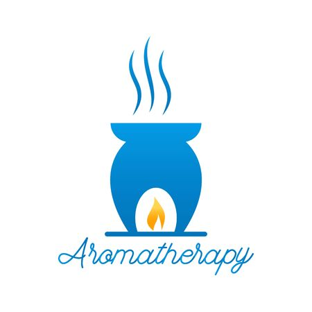 essential oil aromatherapy isolated on white background. vector illustration