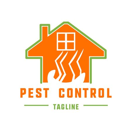 pest control logo for fumigation business. vector illustration