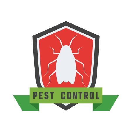 pest control logo for fumigation business. vector illustration