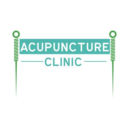 acupuncture therapy logo with text space for your slogan tagline, vector illustration Illusztráció