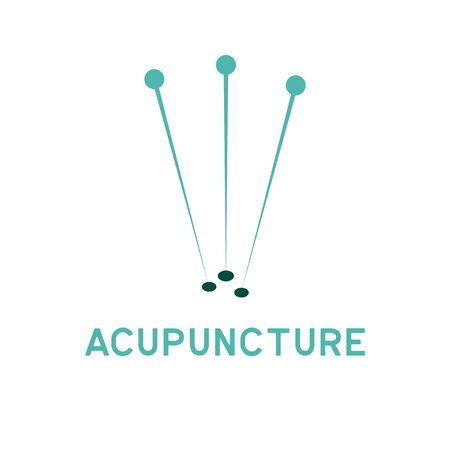 acupuncture therapy logo with text space for your slogan tagline, vector illustration Vettoriali