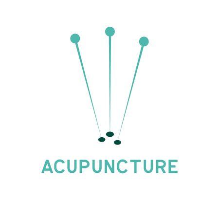 logo terapii akupunktury z miejscem na tekst na slogan slogan, ilustracja wektorowa