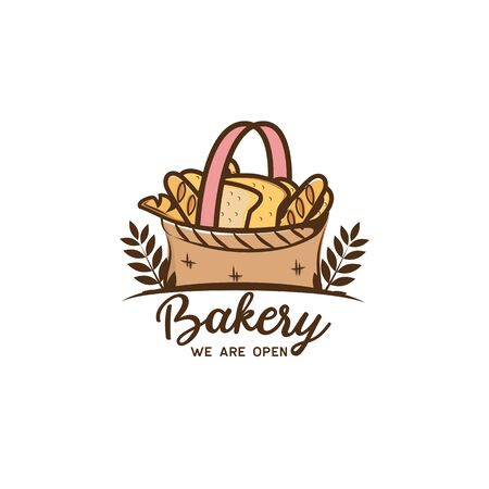 bakery logo isolated on white background, vector illustration
