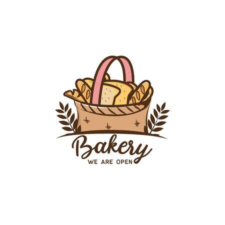 bakery logo isolated on white background, vector illustration