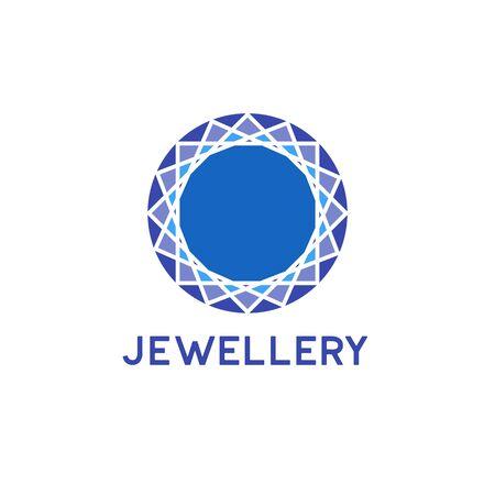 jewelry logo on white background. vector illustration