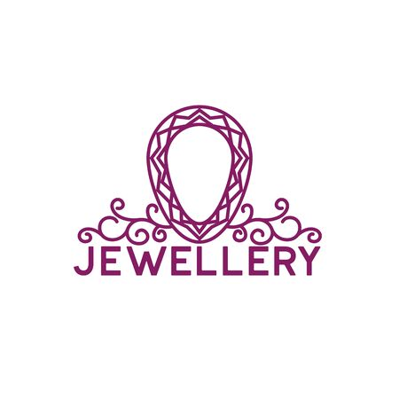 jewelry logo on white background. vector illustration