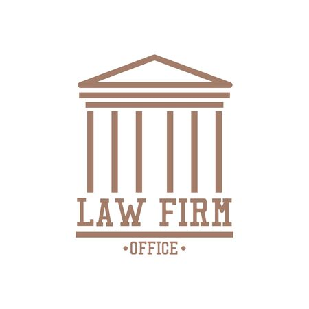 law firm logo on white background. vector illustration