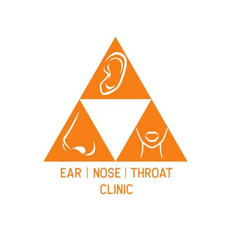 ear nose throat (ENT) logo for Otolaryngologists  clinic concept. vector illustration Illustration