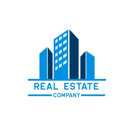 real estate logo isolated on white background. vector illustration Archivio Fotografico - 126670686