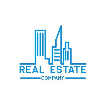 real estate logo isolated on white background. vector illustration