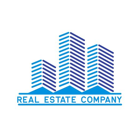 real estate logo isolated on white background. vector illustration Archivio Fotografico - 126670689