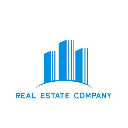 real estate logo isolated on white background. vector illustration