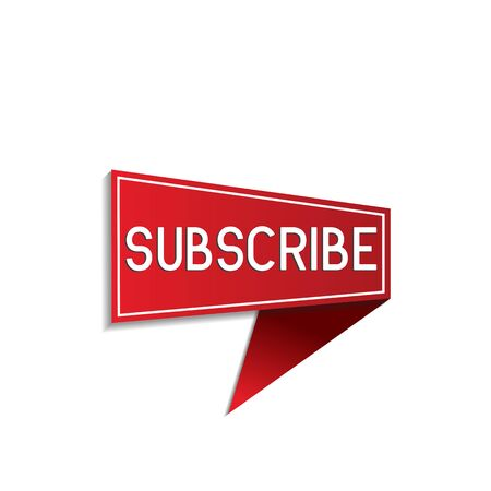 subscribe button label on white background. vector illustration