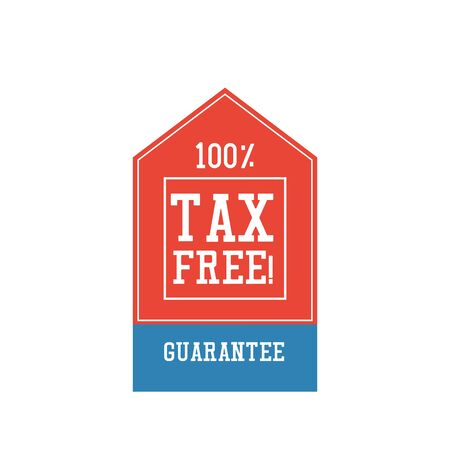 tax free sticker on the background. vector illustration