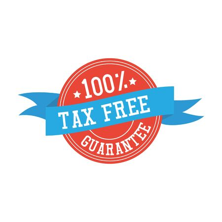 etiqueta libre de impuestos en el fondo. ilustración vectorial