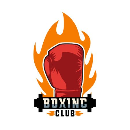 boxing logo on white background, vector illustration Illusztráció