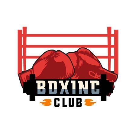 boxing logo on white background, vector illustration Illustration