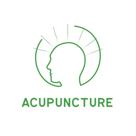 acupuncture therapy logo with text space for your slogan tagline, vector illustration Illustration